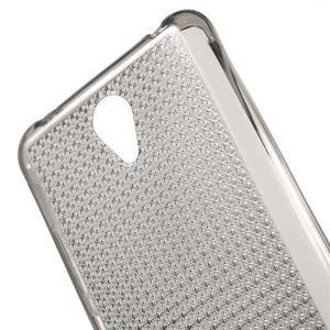 Diamonds gélový obal pre Xiaomi Redmi Note 2 - sivý - 5