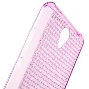 Diamonds gélový obal pre Xiaomi Redmi Note 2 - rose - 5