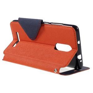 Diary pouzdro s okýnkem na mobil Xiaomi Redmi Note 3  - oranžové - 5
