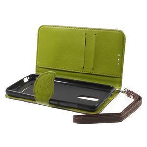 Leaf peňaženkové puzdro pre Xiaomi Redmi Note 3 - hnedé - 5