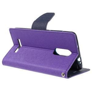 Wallet PU kožené pouzdra na Xiaomi Redmi Note 3 - fialové - 5