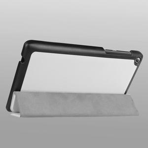 Trifold polohovatelné puzdro pre Lenovo Tab 2 A7-20 - bielé - 5