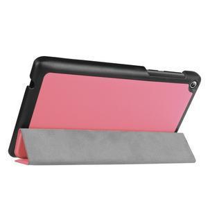 Trifold polohovatelné puzdro pre Lenovo Tab 2 A7-20 - ružové - 5