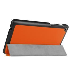 Trifold polohovatelné puzdro pre Lenovo Tab 2 A7-20 - oranžové - 5