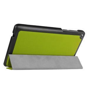 Trifold polohovatelné puzdro pre Lenovo Tab 2 A7-20 - zelené - 5