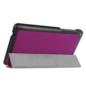 Trifold polohovatelné puzdro pre Lenovo Tab 2 A7-20 - fialové - 5