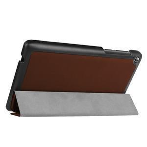 Trifold polohovatelné puzdro pre Lenovo Tab 2 A7-20 - hnedé - 5