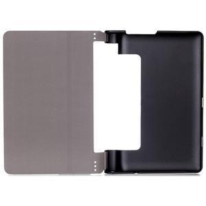 Polohovatelnotelné PU kožené pouzdro na Lenovo Yoga Tab 3 8.0 - světlemodré - 5