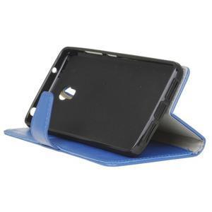 Leat PU kožené pouzdro Lenovo Vibe P1 - modré - 5
