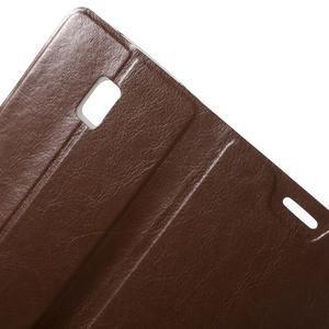 Horse peňaženkové puzdro pre Lenovo Vibe P1 - hnedé - 5