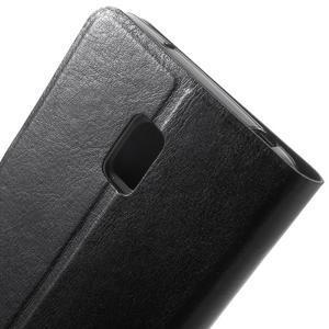Horse peňaženkové puzdro pre Lenovo Vibe P1 - čierné - 5