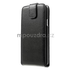 Kožené flipové puzdro na Samsung Galaxy A3 - čierné - 5