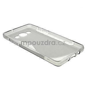 Gélové s-line puzdro pre Samsung Galaxy A3    - šedá - 5