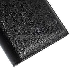Kožené puzdro s okienkom pre Samsung Galaxy A5 - čierné - 5