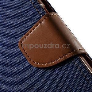 Štýlové textilné/PU kožené puzdro pre Samsung Galaxy Core Prime - jeans - 5