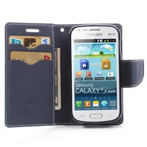 Diary puzdro na mobil Samsung Galaxy S Duos / Trend Plus - azurové - 5