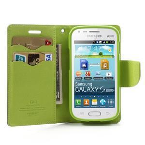 Diary puzdro na mobil Samsung Galaxy S Duos / Trend Plus - tmavomodré - 5