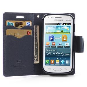 Diary puzdro na mobil Samsung Galaxy S Duos / Trend Plus - fialové - 5