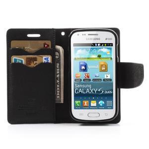 Diary puzdro na mobil Samsung Galaxy S Duos / Trend Plus - hnedé/čierne - 5