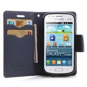 Diary puzdro pre mobil Samsung Galaxy S Duos / Trend Plus -  červené - 5
