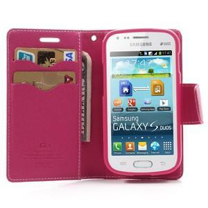 Diary puzdro na mobil Samsung Galaxy S Duos / Trend Plus - růžové - 5