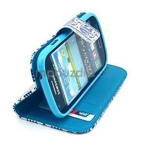 Peňaženkové púzdro na Samsung Galaxy S3 mini - slony - 5