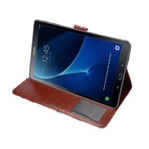 Květinové puzdro na tablet Samsung Galaxy Tab A 10.1 (2016) - bielé - 5