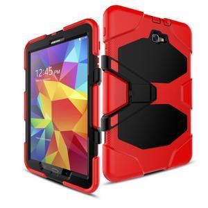Armory 3v1 odolný obal pre tablet Samsung Galaxy Tab A 10.1 (2016) - červený - 5