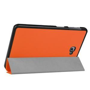 Trifold polohovatelné puzdro pre Samsung Galaxy Tab A 10.1 (2016) - oranžové - 5