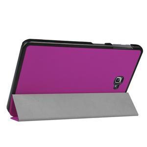 Trifold polohovatelné puzdro pre Samsung Galaxy Tab A 10.1 (2016) - fialové - 5