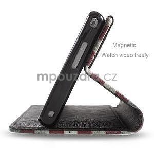 Peňaženkové puzdro pre mobil Sony Xperia M2 - US vlajka - 5