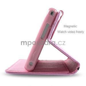 Peňaženkové puzdro pre mobil Sony Xperia M2 -  kvitnúca vetvička - 5