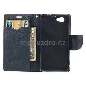 Fancy peňaženkové puzdro pre Sony Xperia Z1 Compact - rose - 5
