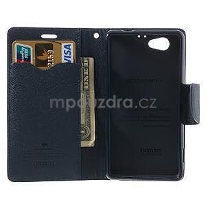 Fancy peňaženkové puzdro na Sony Xperia Z1 Compact - fialové - 5