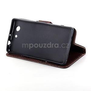 Leaf Peňaženkové puzdro pre Sony Xperia Z3 Compact - čierne - 5