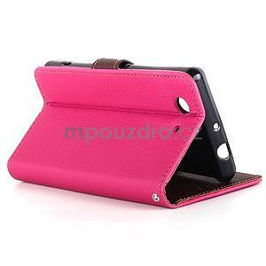 Leaf Peňaženkové puzdro pre Sony Xperia Z3 Compact - rose - 5