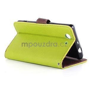 Leaf Peňaženkové puzdro pre Sony Xperia Z3 Compact - zelené - 5