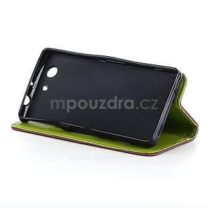 Leaf peněženkové pouzdro na Sony Xperia Z3 Compact - hnědé - 5