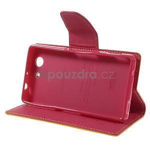 Diary peněženkové pouzdro na mobil Sony Xperia Z3 Compact - žluté - 5