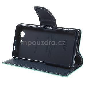 Diary peněženkové pouzdro na mobil Sony Xperia Z3 Compact - azurové - 5