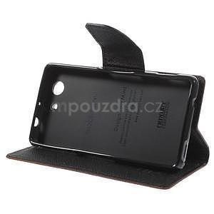 Diary Peňaženkové puzdro pre mobil Sony Xperia Z3 Compact - hnedé - 5