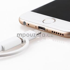 MFi prepojovací kabel 8 pin pre zařízení Apple a micro USB 2v1 - 1 metr - biely - 5