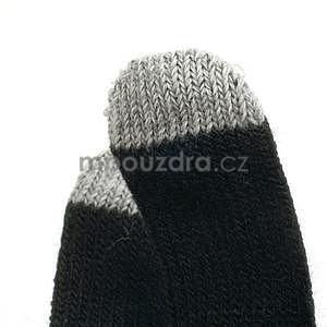 Skeleton rukavice na dotykové telefony - čierné/ružové - 5