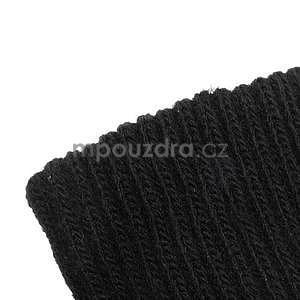 Skeleton rukavice na dotykové telefony - čierné/fialové - 5