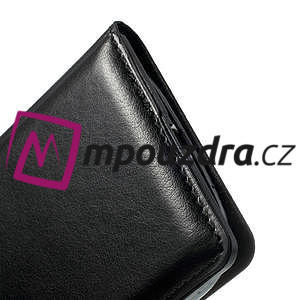 Luxusní pěněženkové puzdro na Samsung Galaxy S3 i9300 - čierné - 5