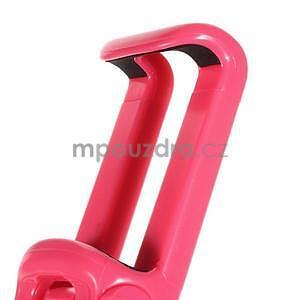 Selfie tyč s automatickým spínačem na rukojeti - rose - 5
