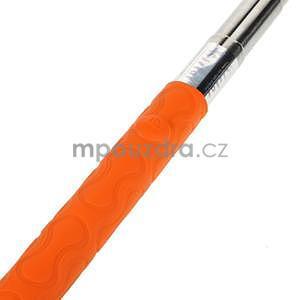 Selfie tyč s automatickým spínačem na rukojeti - oranžová - 5