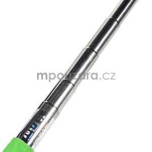 Selfie tyč s automatickým spínačem na rukojeti - zelená - 5