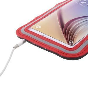 Fittsport pouzdro na ruku pro mobil do rozměrů 143.4 x 70,5 x 6,8 mm - červené - 5
