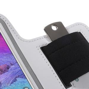 Gym bežecké puzdro na mobil do rozmerov 153.5 x 78.6 x 8.5 mm - biele - 5